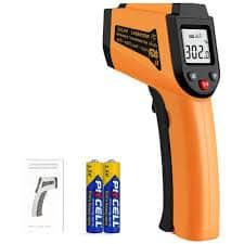 Another great cheap option – Etekcity Lasergrip 800 Digital Laser Infrared Thermometer Gun